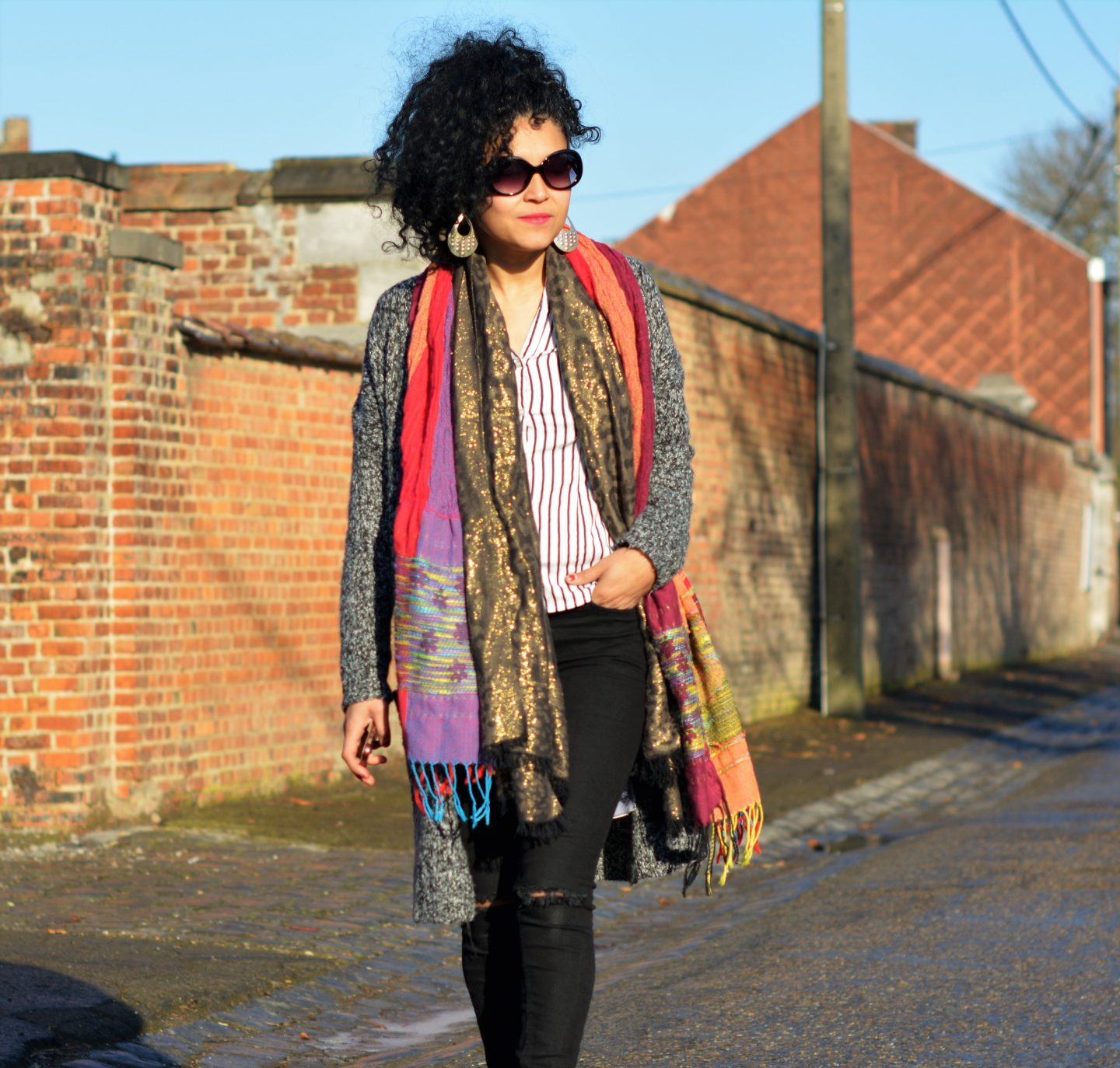 Layering & red touch to boost your style