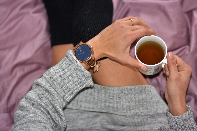 Un moment chic et cosy avec ma nouvelle montre Jord