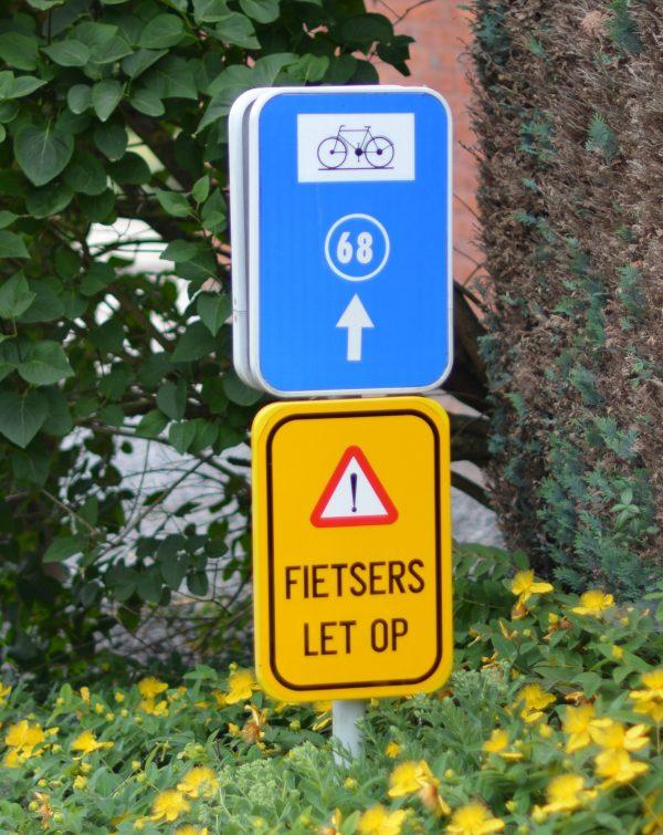 panneau pour promenade numéroté à bilzen