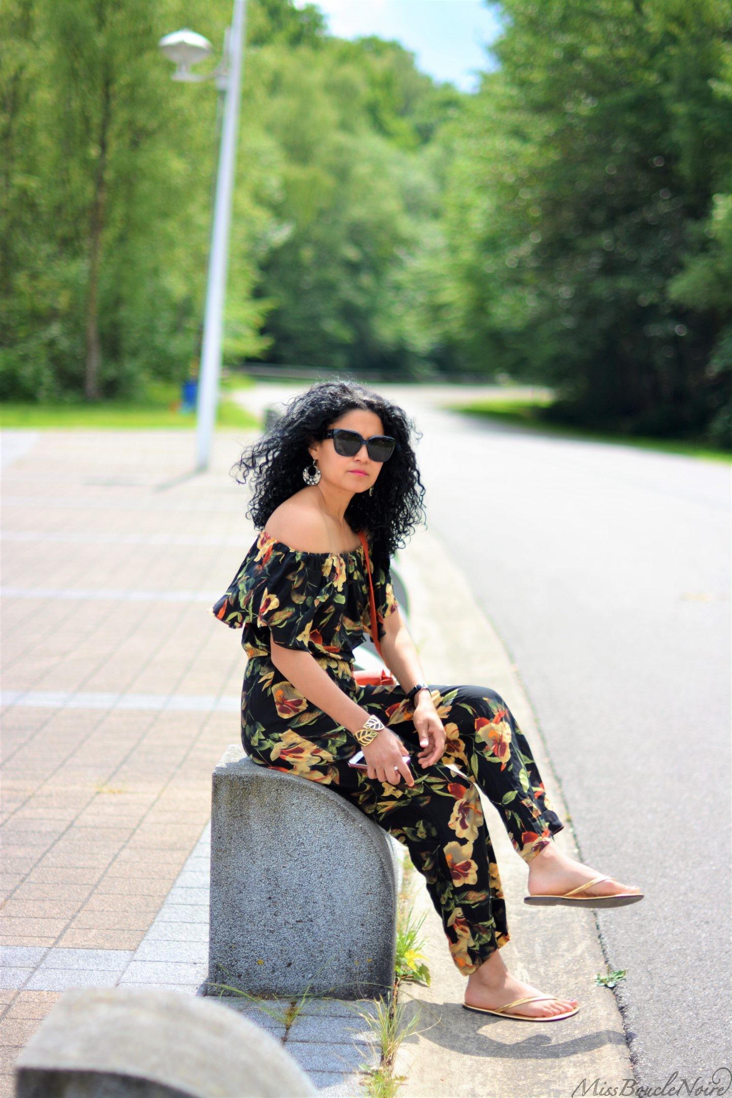 Look d'été, une combi fleurie, du soleil et une promenade <3 !
