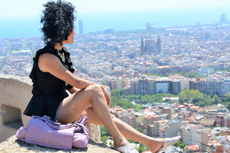 Vue sur Barcelone depuis le turo de la Rovira