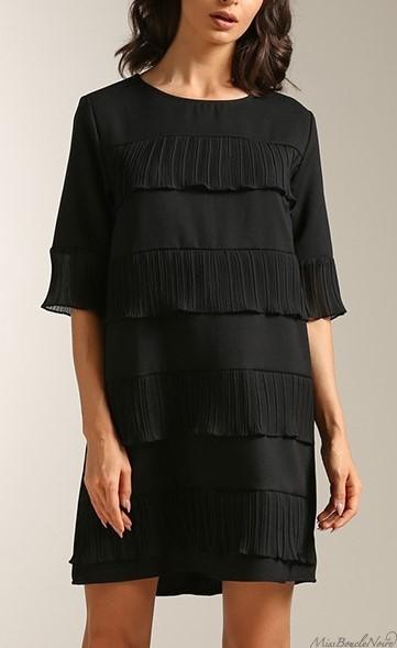 lesara-robe-noir-volants