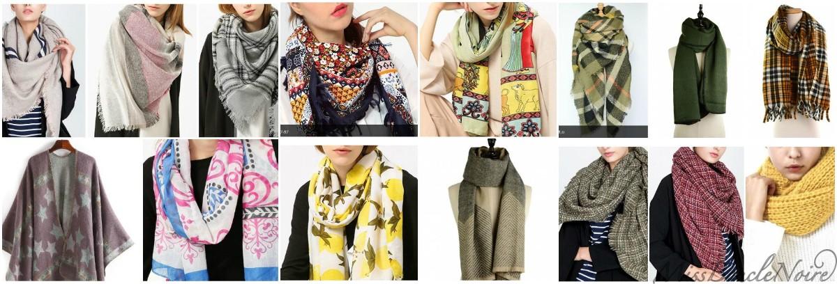 Les foulards et écharpes, portez un atout colorimétrie de saison