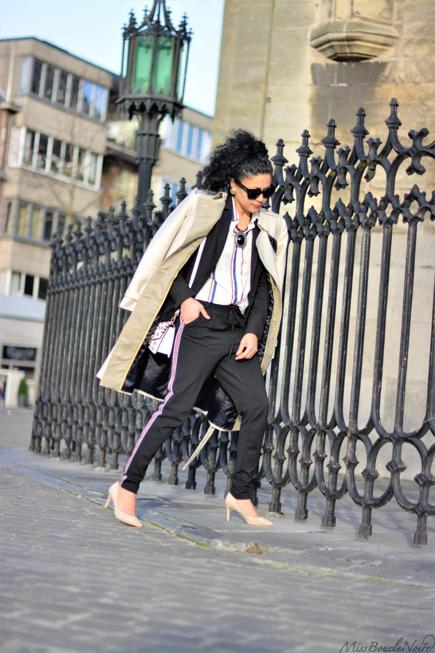 Le look pantalons de jogging chic