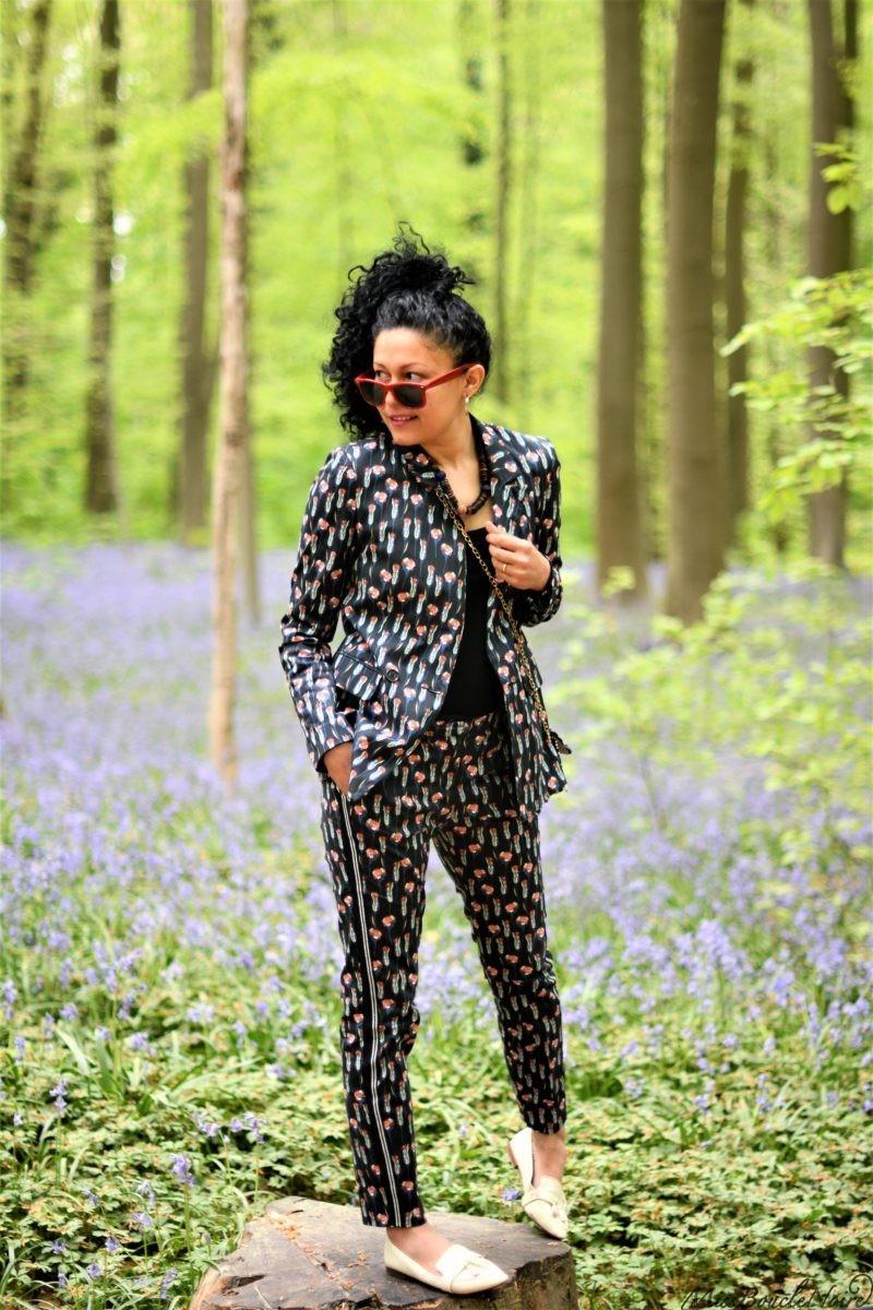 Look dans le bois de Halle, festival des jacinthes